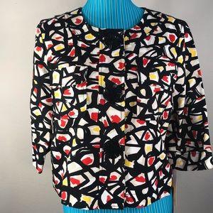 NWT Ruby Rd. Three button snap jacket